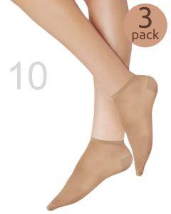 Caresse sneakersokjes 10 denier 3-pack