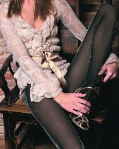 Trasparenze panty met lurex glitter